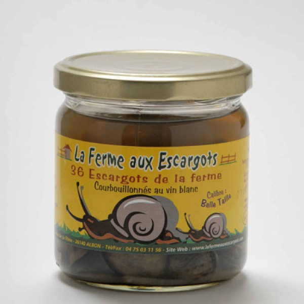 Verrine de 36 escargots